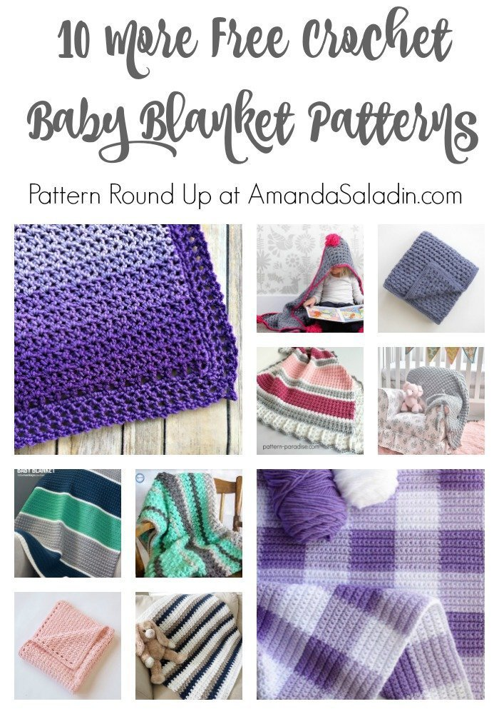 Here are 10 more of my favorite FREE crochet baby blanket patterns!