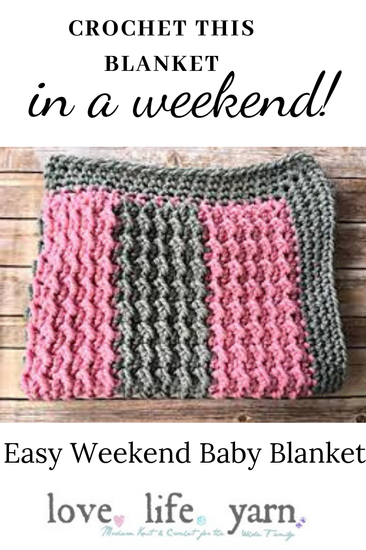 Easy Weekend Baby Blanket -