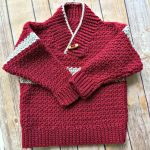 Free Crochet Pattern - Boy's Shawl-Collared Sweater