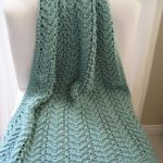 Free Knitting Pattern - Easy Lacy Baby Blanket