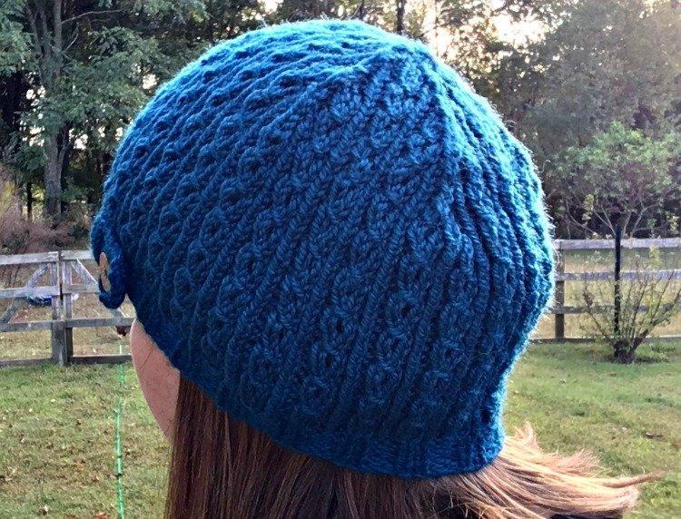 Eyelet Rib Knit Hat - Free Knitting Pattern