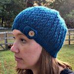 Free Knitting Pattern - Eyelet Rib Knit Hat