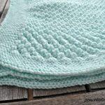 Free Knitting Pattern - Popcorn Baby blanket