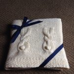 Free Knitting Pattern - Heirloom Bunny Baby Blanket