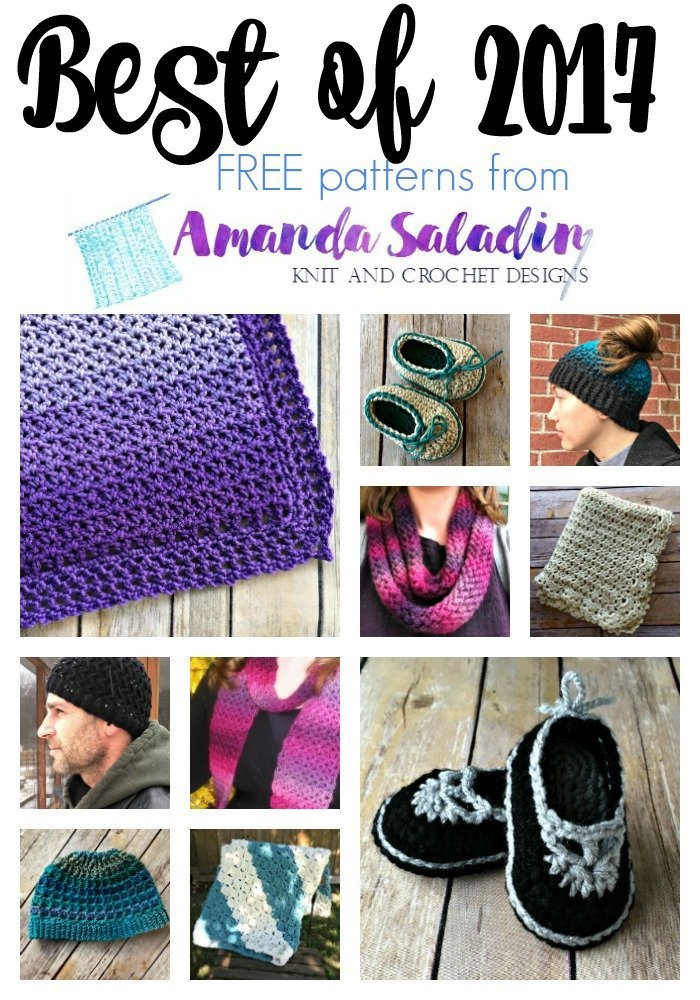 Best FREE Knit and Crochet Patterns of 2017 from Amanda Saladin