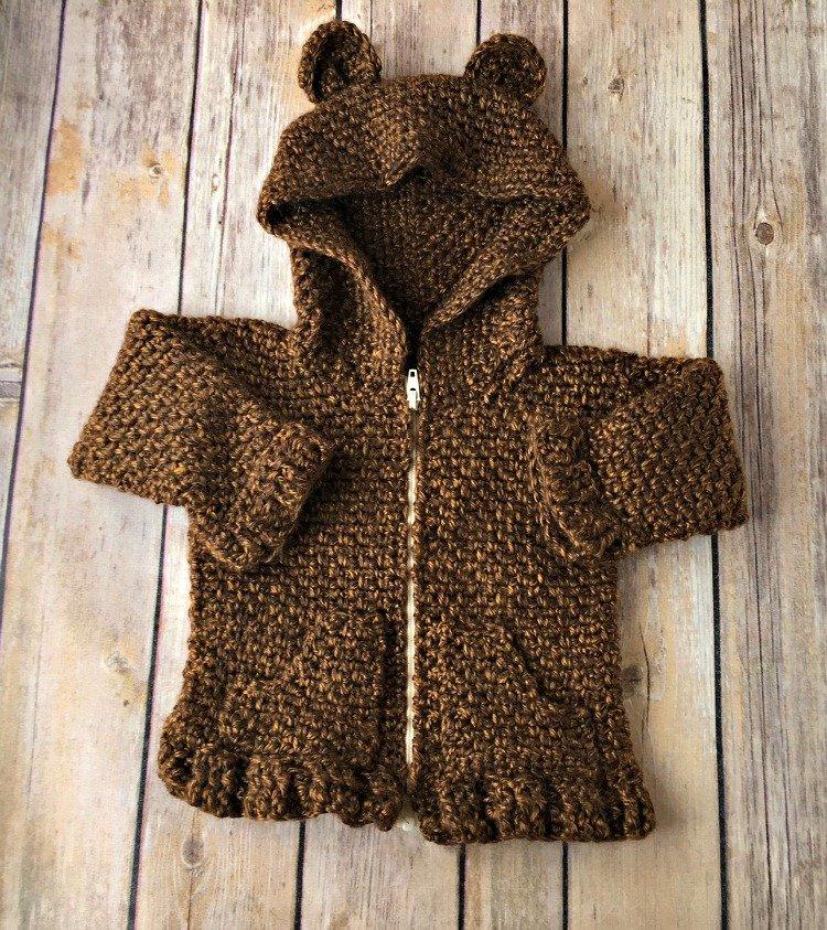 Free Crochet Pattern - Baby Bear Cardigan