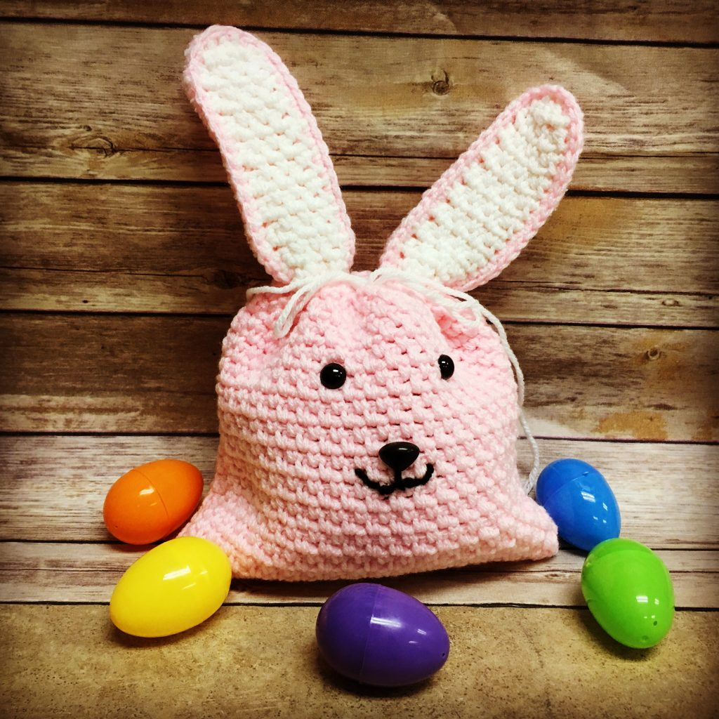 Free Crochet Pattern - Easter Bunny Gift Bag