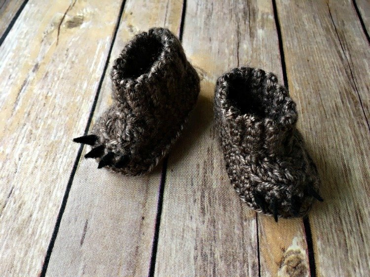 Free Crochet Pattern - Baby Bear Booties