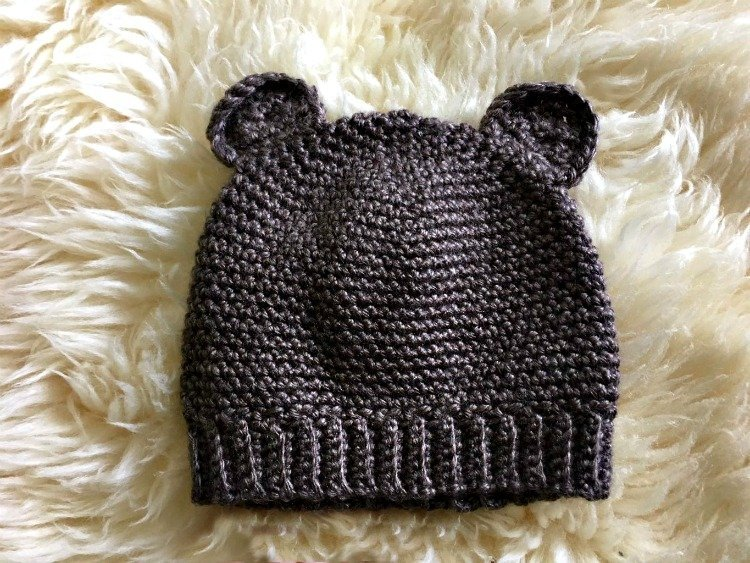 Free Crochet Pattern - Baby Bear Hat