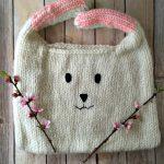 Free Knitting Pattern - Floppy Bunny Bag