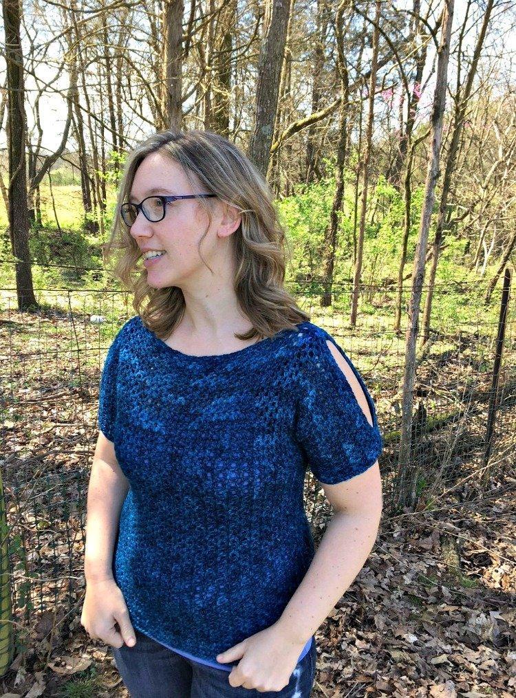 Free Crochet Pattern - Split Sleeve Tee
