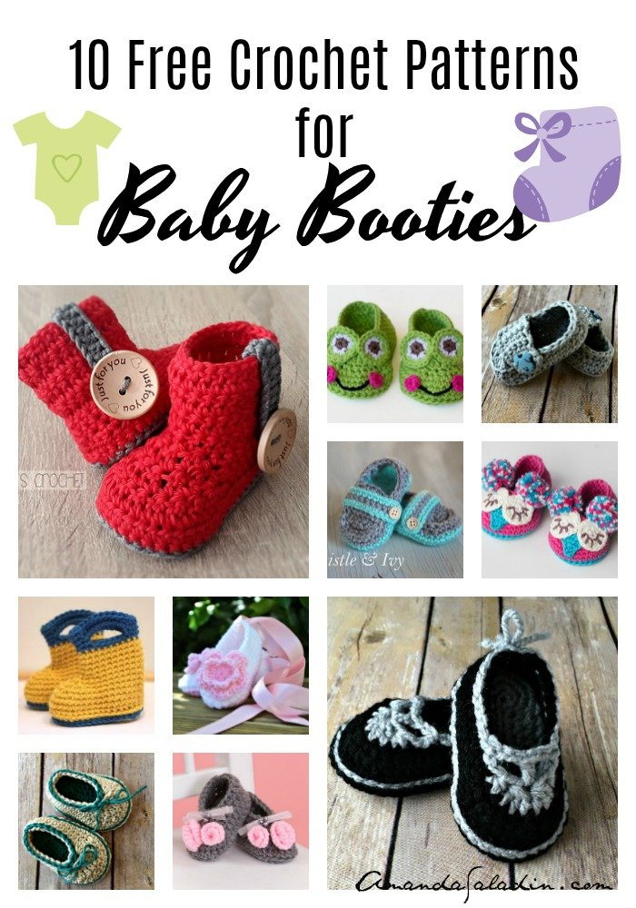 10 Free Crochet Patterns for Baby Booties