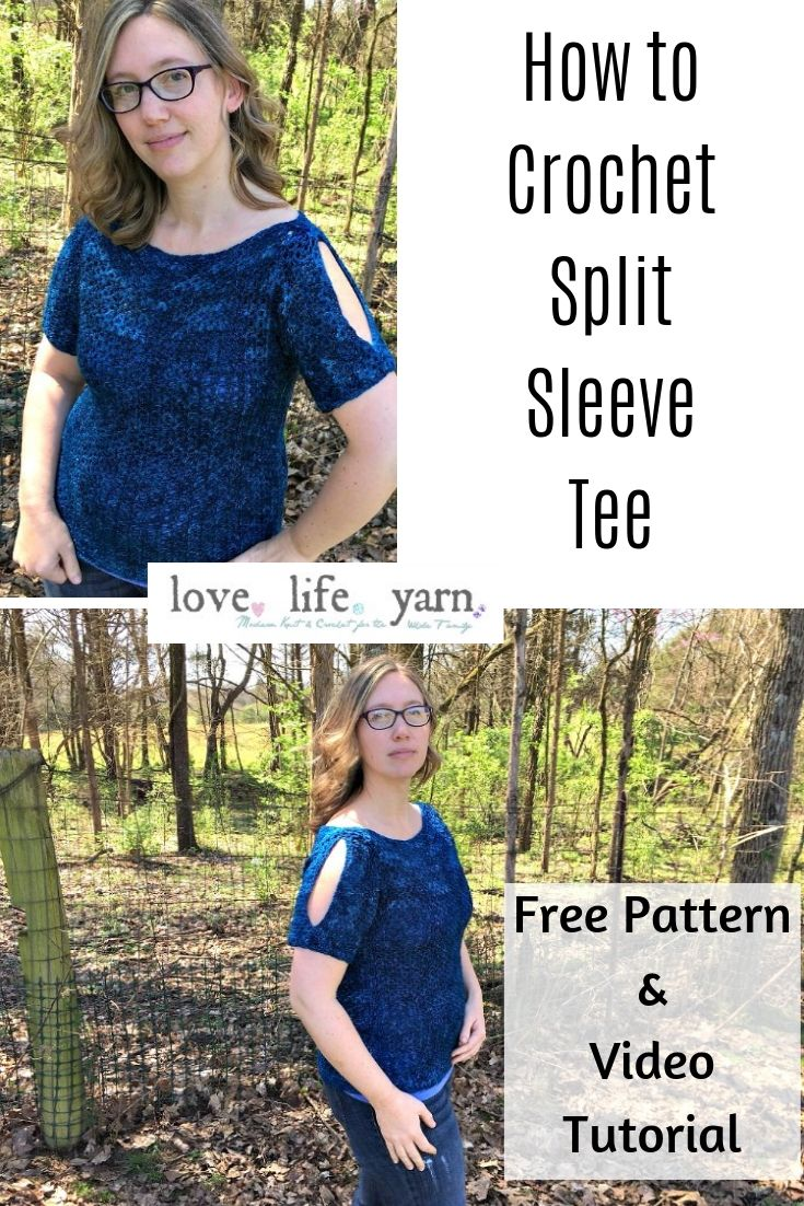 This pattern is SO easy! If you can double crochet, you can make this amazing tee! Free crochet pattern and a video tutorial to guide you step by step. I have to make this!