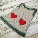 Valentine Baby Dress - Free Knitting Pattern