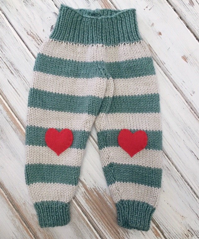 Free Knitting Pattern - Striped Baby Pants
