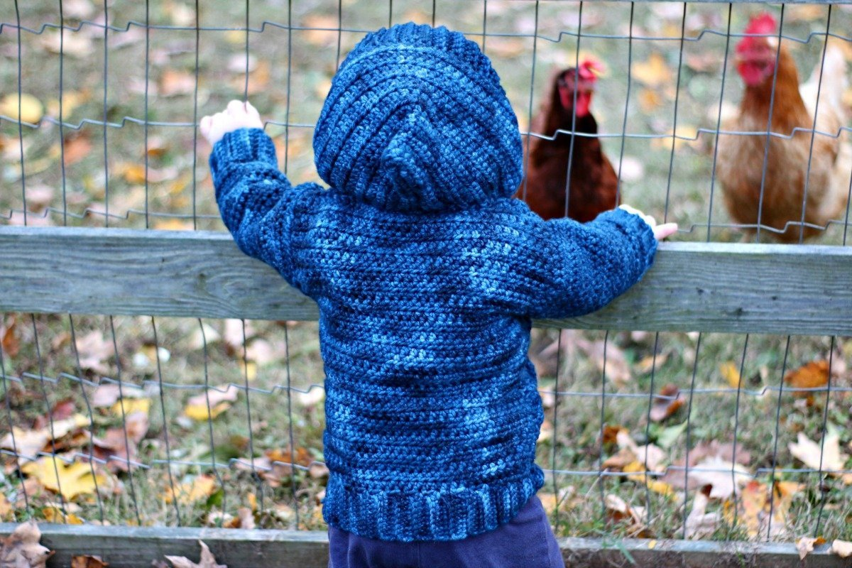 Comfy Cabled Hoodie - Free Crochet Pattern