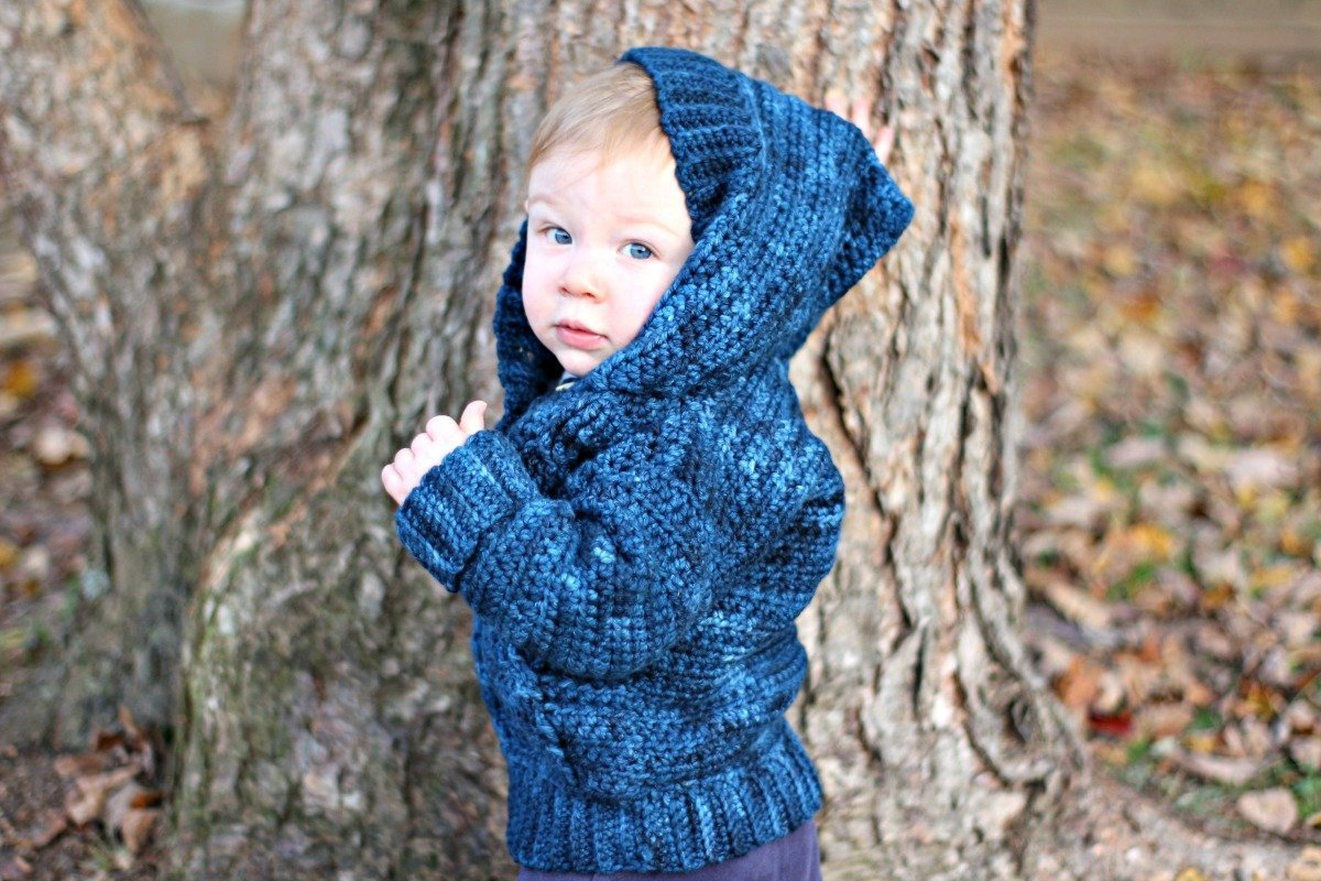 Kid S Cabled Hoodie Free Crochet Pattern Love Life Yarn