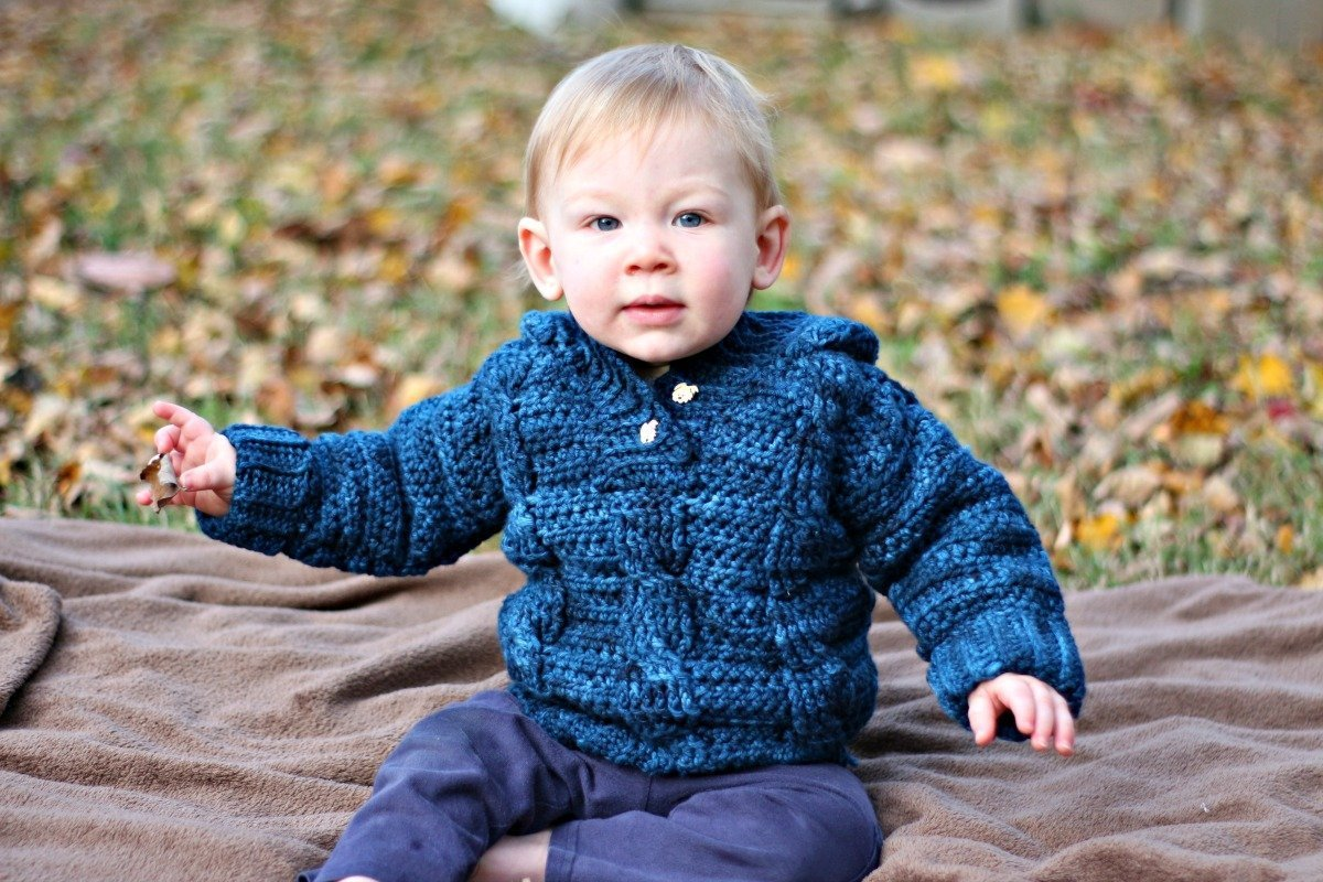 119f7f8d1143 Kid s Cabled Hoodie - Free Crochet Pattern - love. life. yarn.