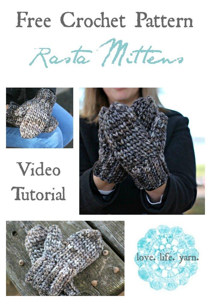 Rasta Mittens - Free Crochet Pattern