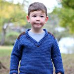 Kid's Saddle Shoulder Sweater - Free Crochet Pattern