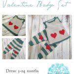 Valentine Baby Set - Free Knitting Pattern