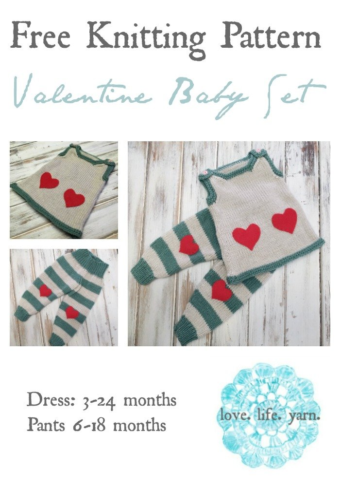 Valentine Baby Set - Free Knitting Pattern