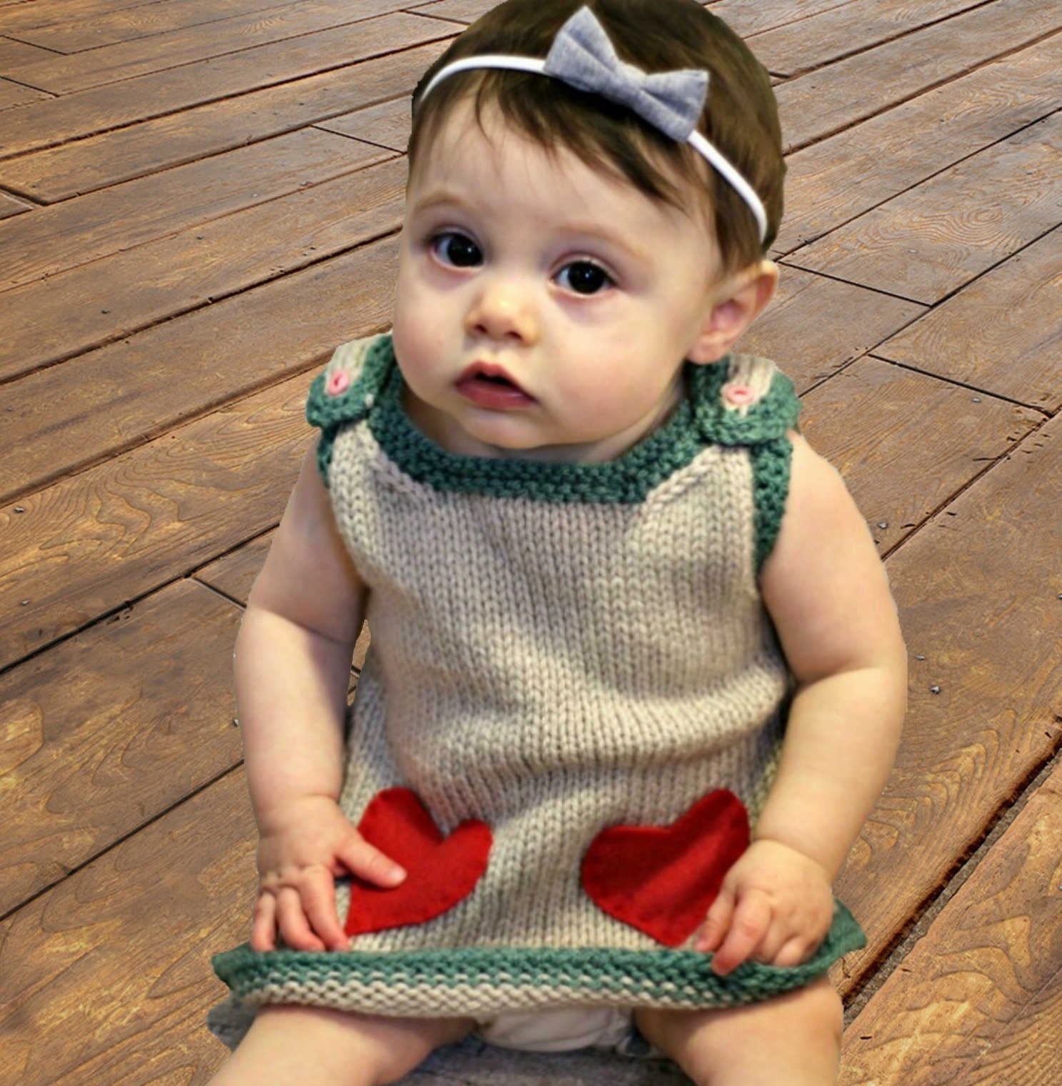 Valentine Baby Dress - Free Knitting Pattern