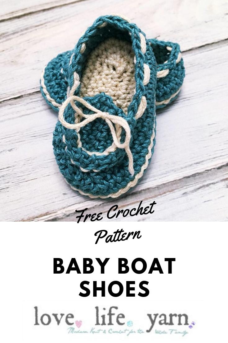 Baby Boat Shoes - Free Crochet Pattern