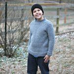 Kid's Ribbed Shoulder Sweater - Free Crochet Pattern