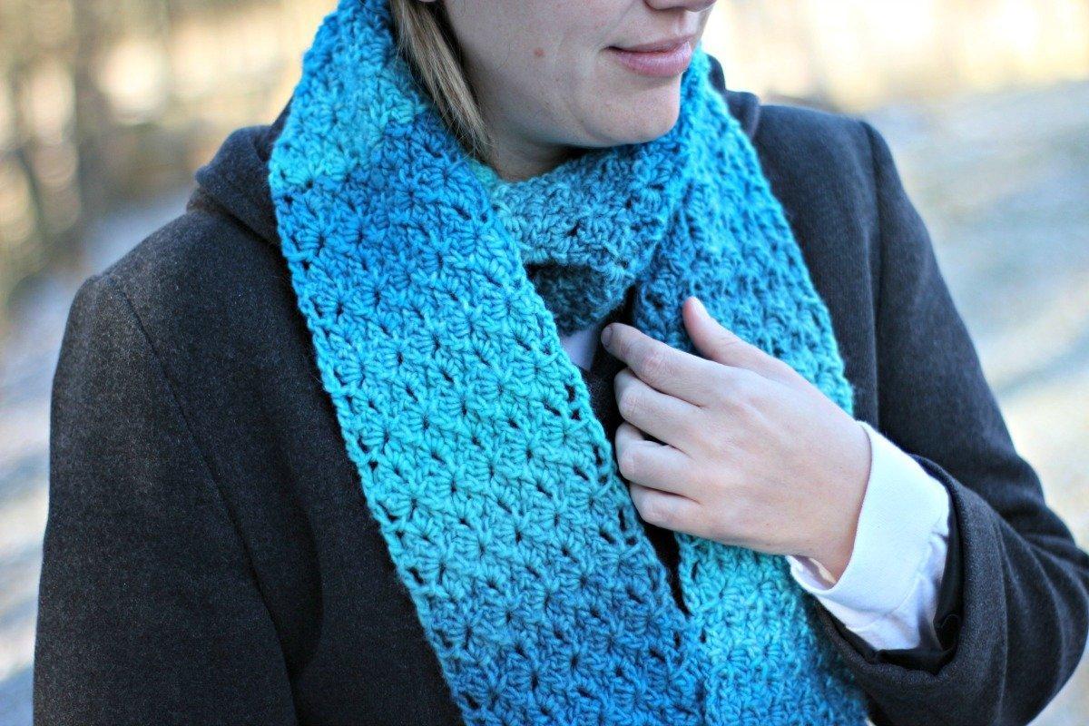 Duchess Lace Scarf Free Crochet Pattern Love Life Yarn