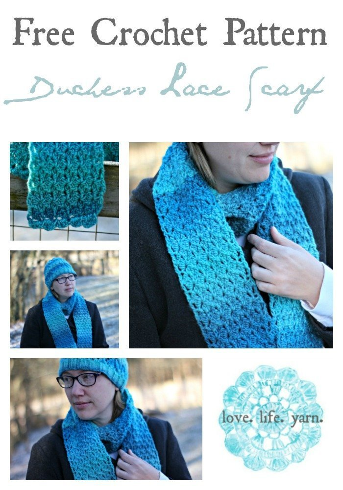 Duchess Lace Scarf - Free Crochet Pattern