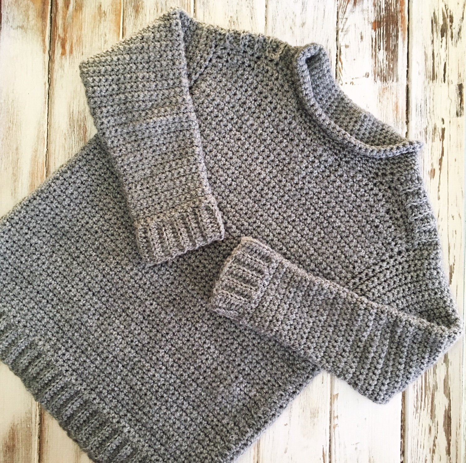 Kid's Ribbed Shoulder Sweater - Free Crochet Pattern
