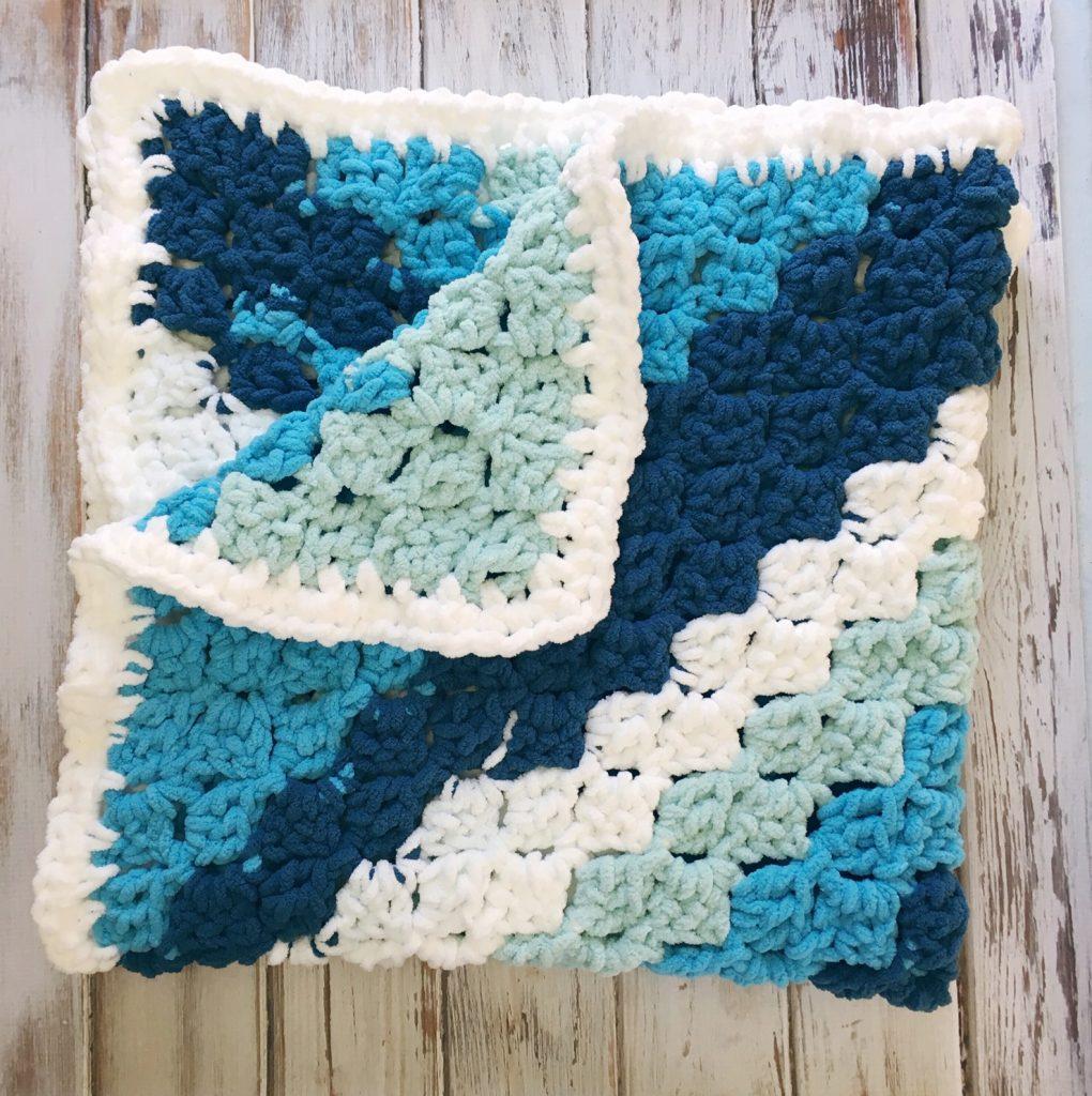 Easy C2C Striped Baby Blanket - Free Crochet Pattern