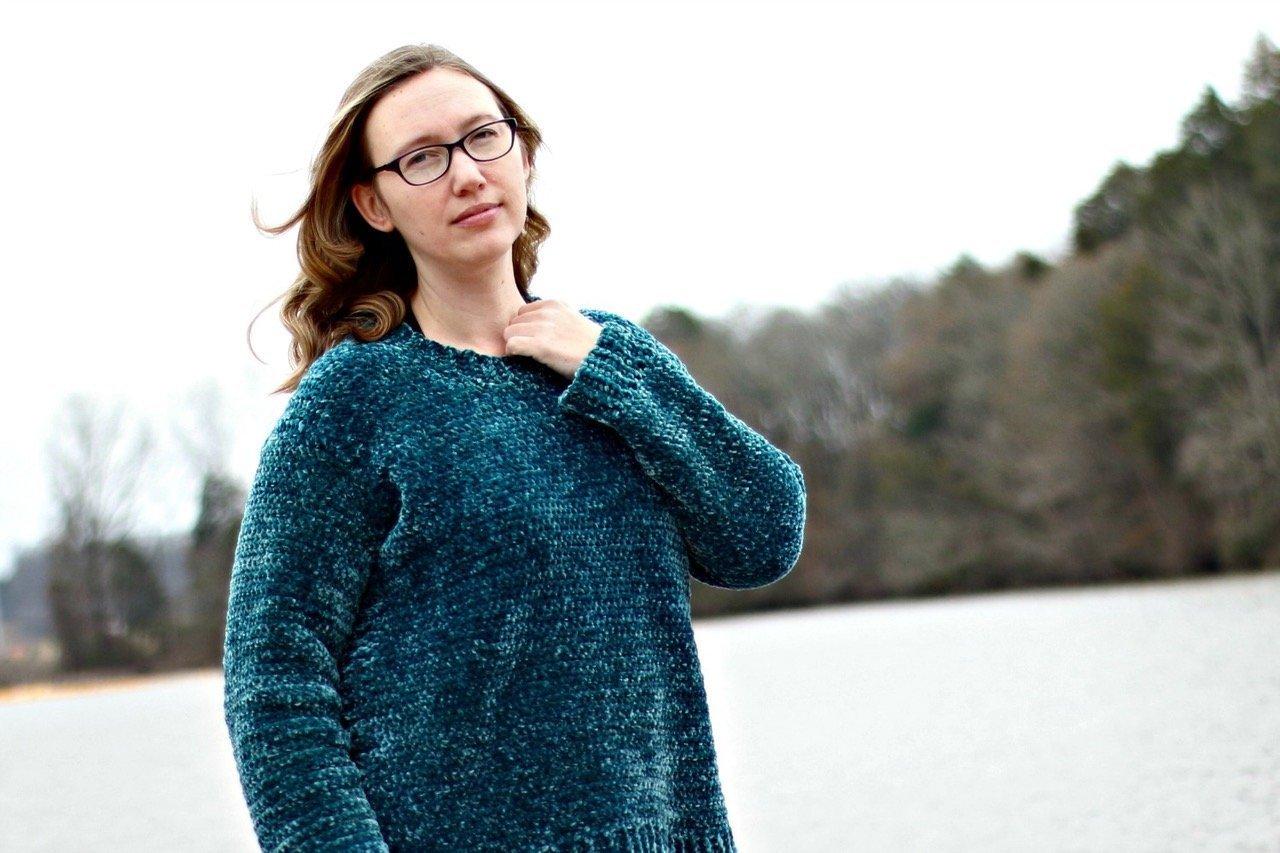 velveteal sweater
