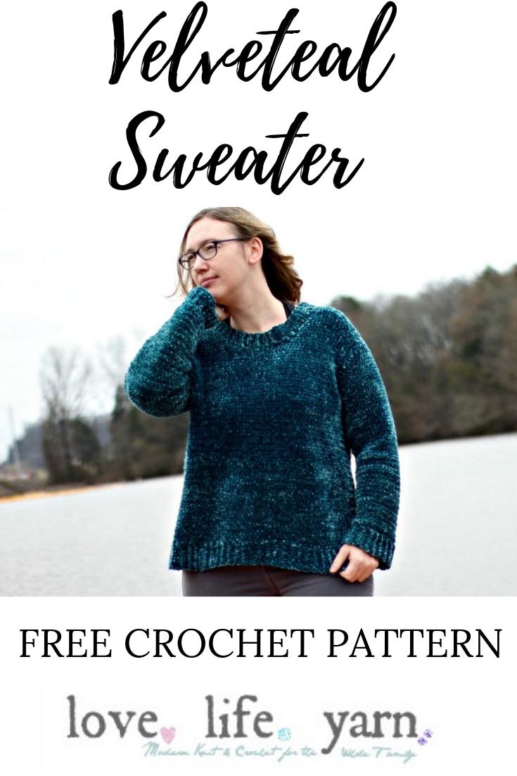 The Velveteal Sweater - Free Crochet Pattern