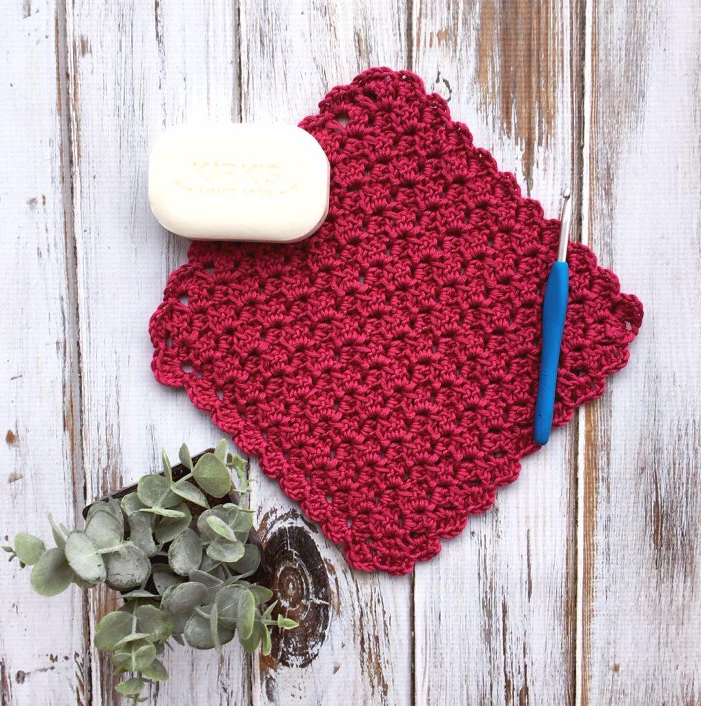 Free Crochet Pattern - Duchess Lace Washcloth