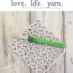 How to Crochet the Offset V-Stitch with video tutorial