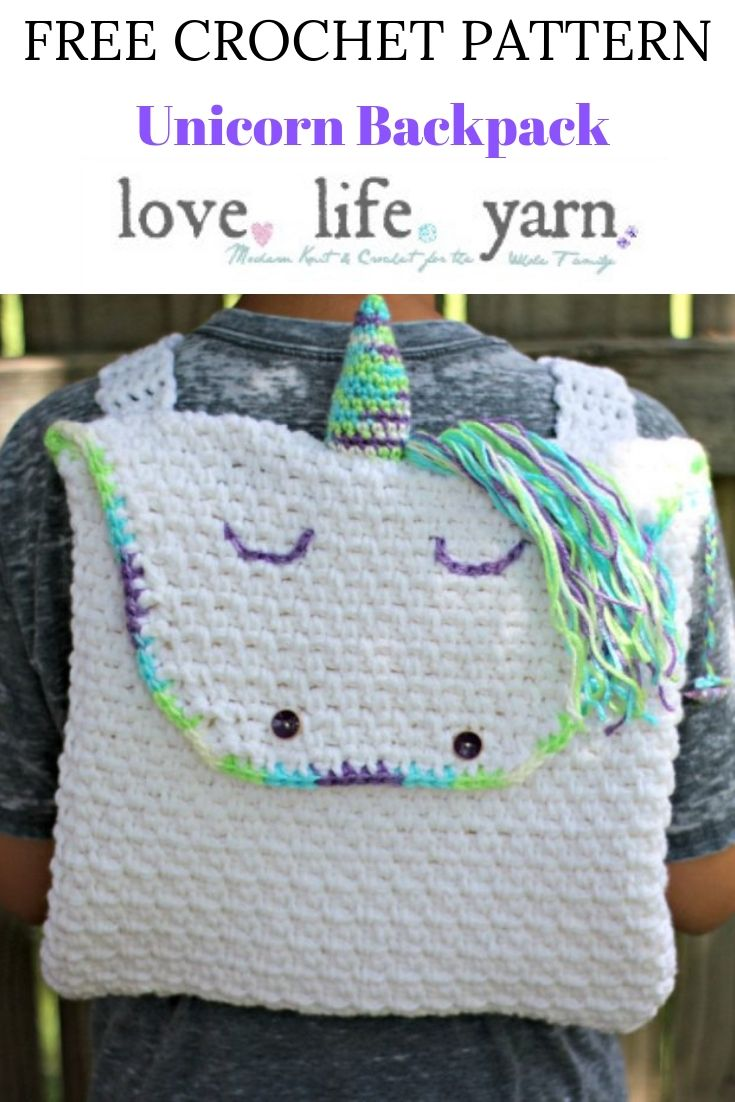 I love how easy this is! Just single crochet and chain spaces - I am going to make this for back to school.  This is such an amazing free crochet pattern!