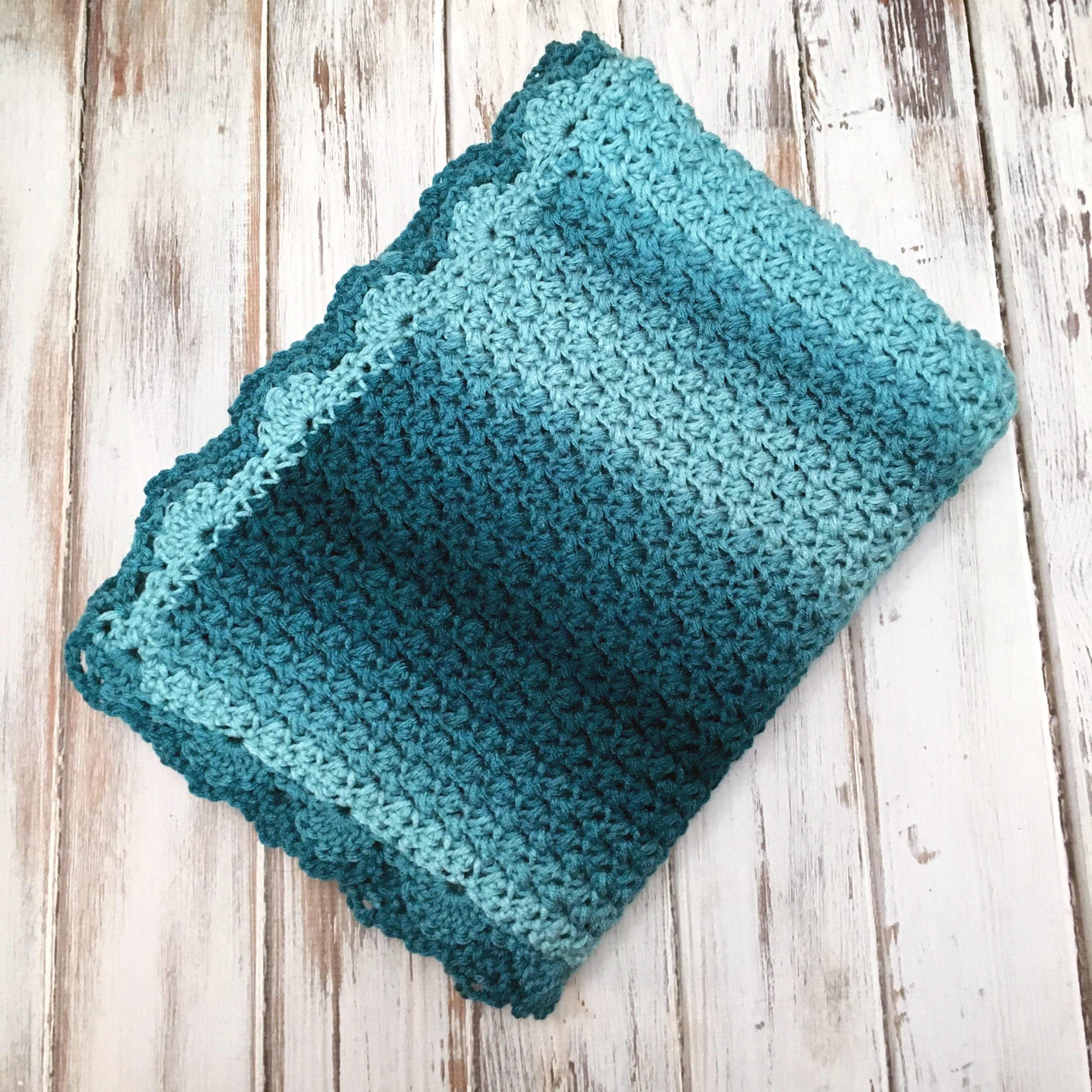 Elegant Ombre Baby Blanket - Free Crochet Pattern - love  life  yarn