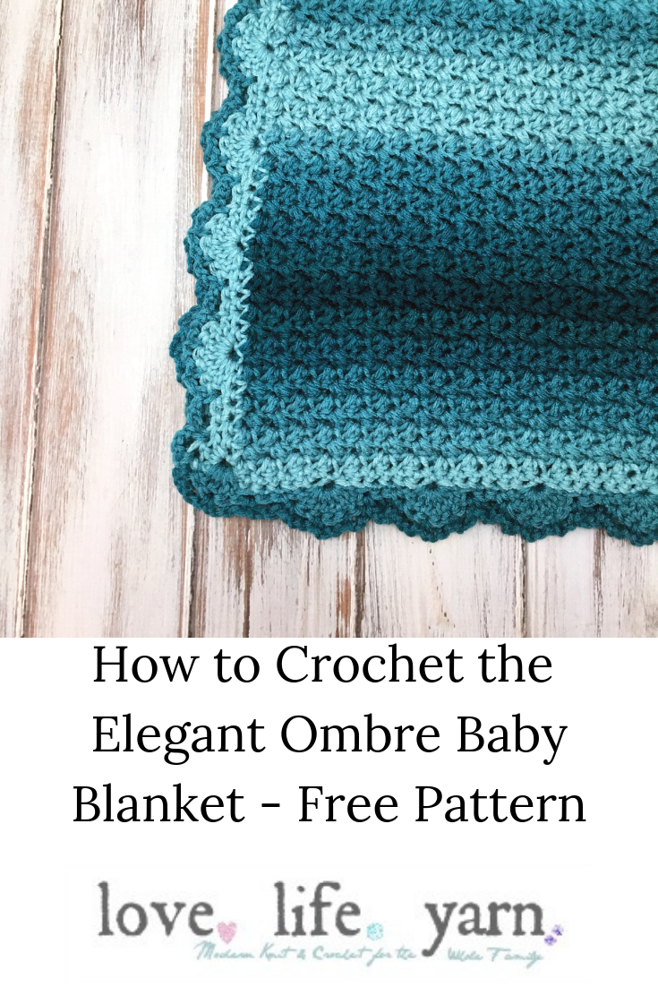 Crochet an easy, elegant baby blanket with this FREE pattern and video tutorial!