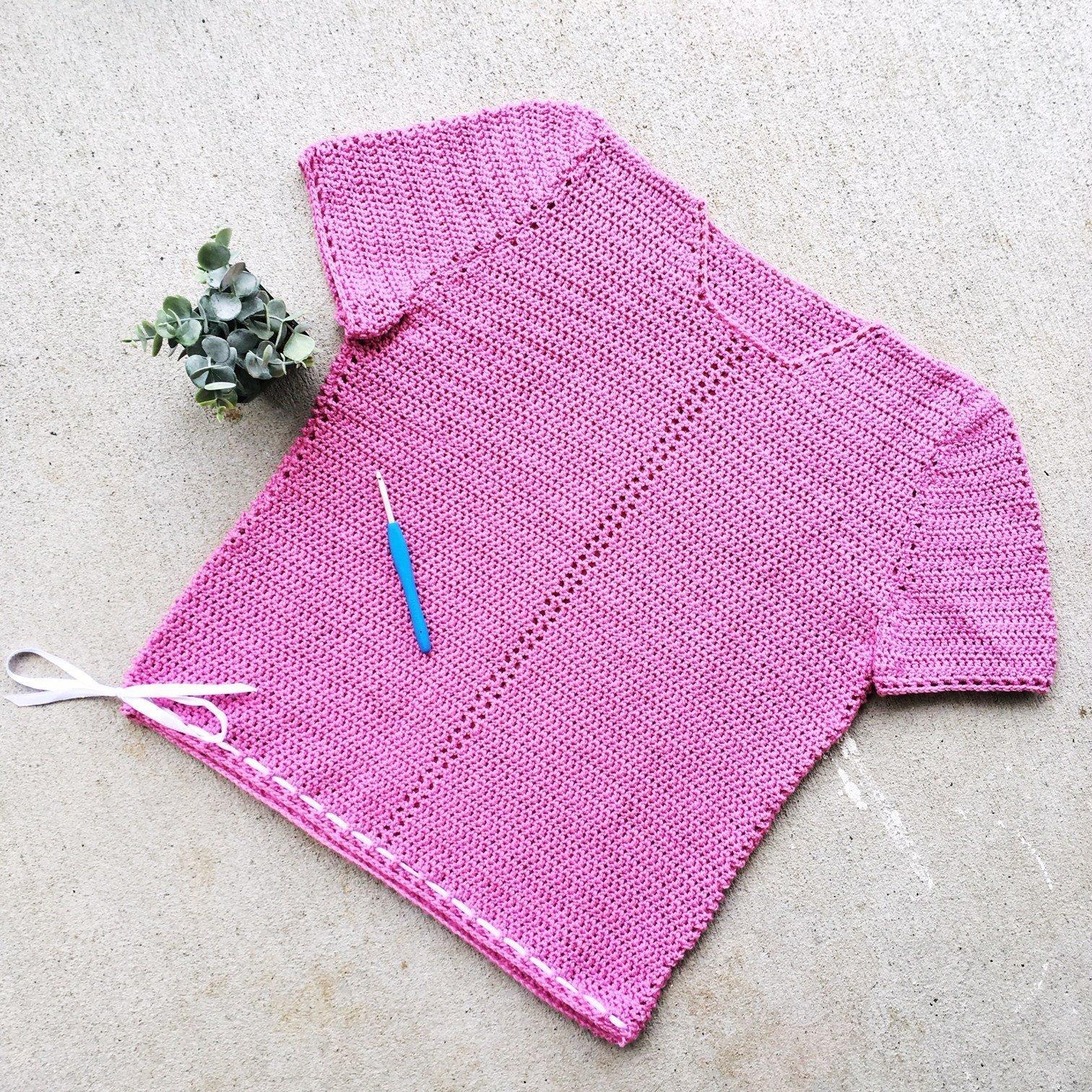 Free Crochet Pattern - Ribbon Tee