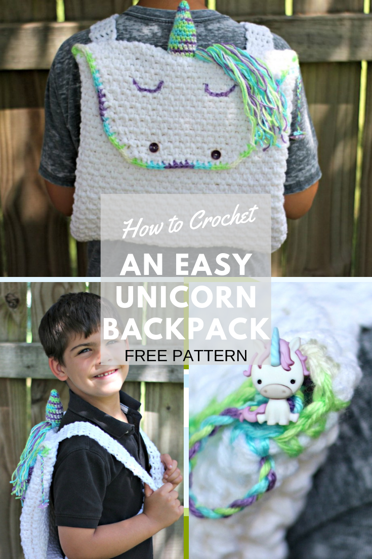 Crochet this beginner-friendly backpack using only single crochet and chains. Free crochet pattern!