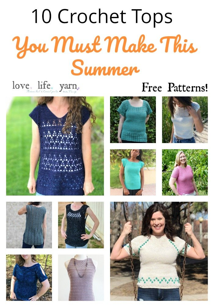 I can't believe these are all free patterns! Such a wonderful collection of free crochet tops to make for summer. Free crochet patterns and tutorials.