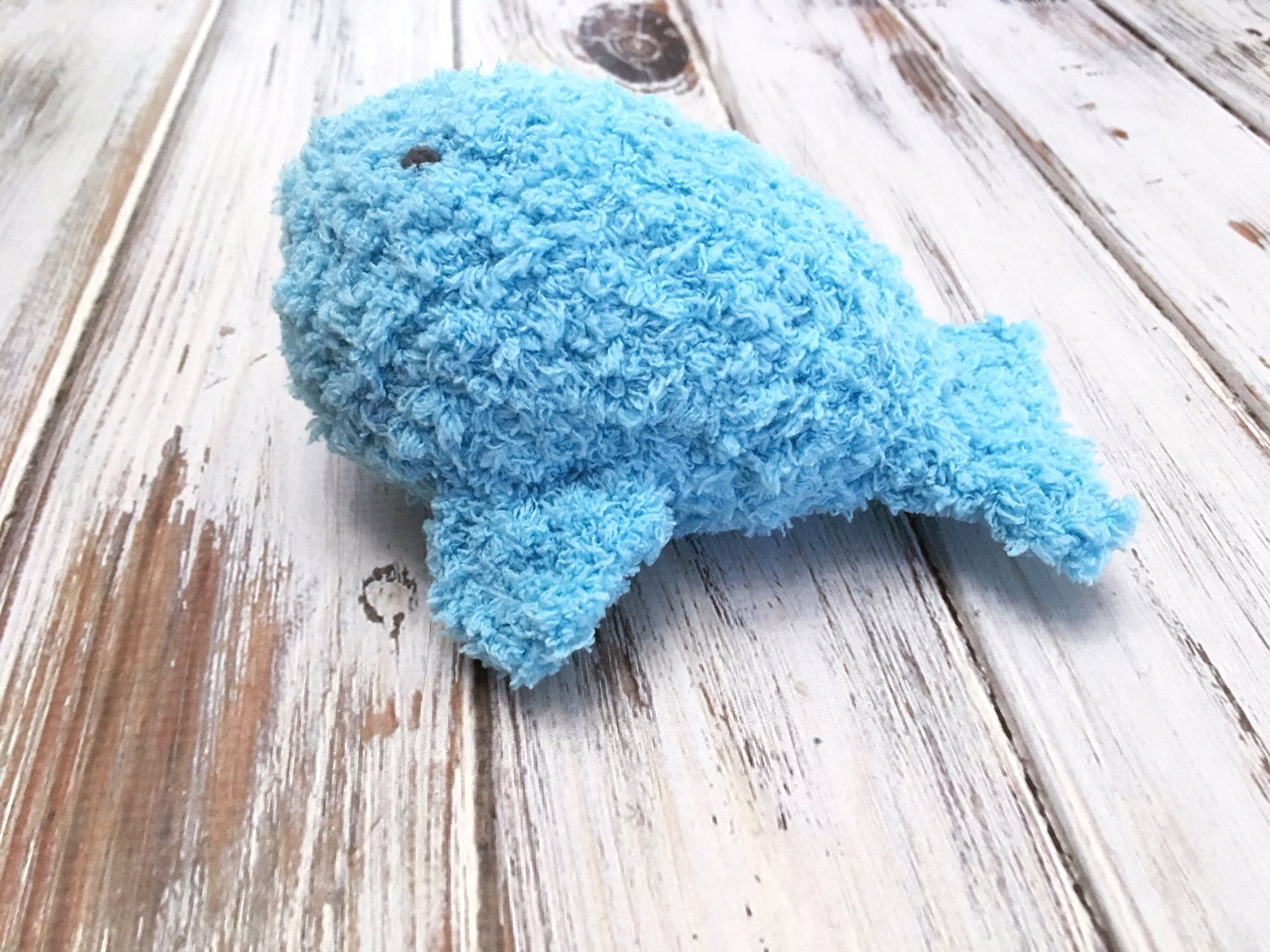 Learn to crochet this adorable stuffed whale with this free crochet pattern for the Pipsqueak Whale.