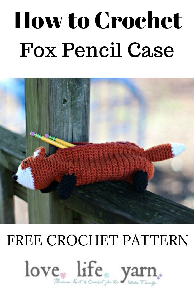 This is SO cute! I'm going to make this for my daughter to take to school. She really loves foxes. I can't believe this is a FREE crochet pattern!