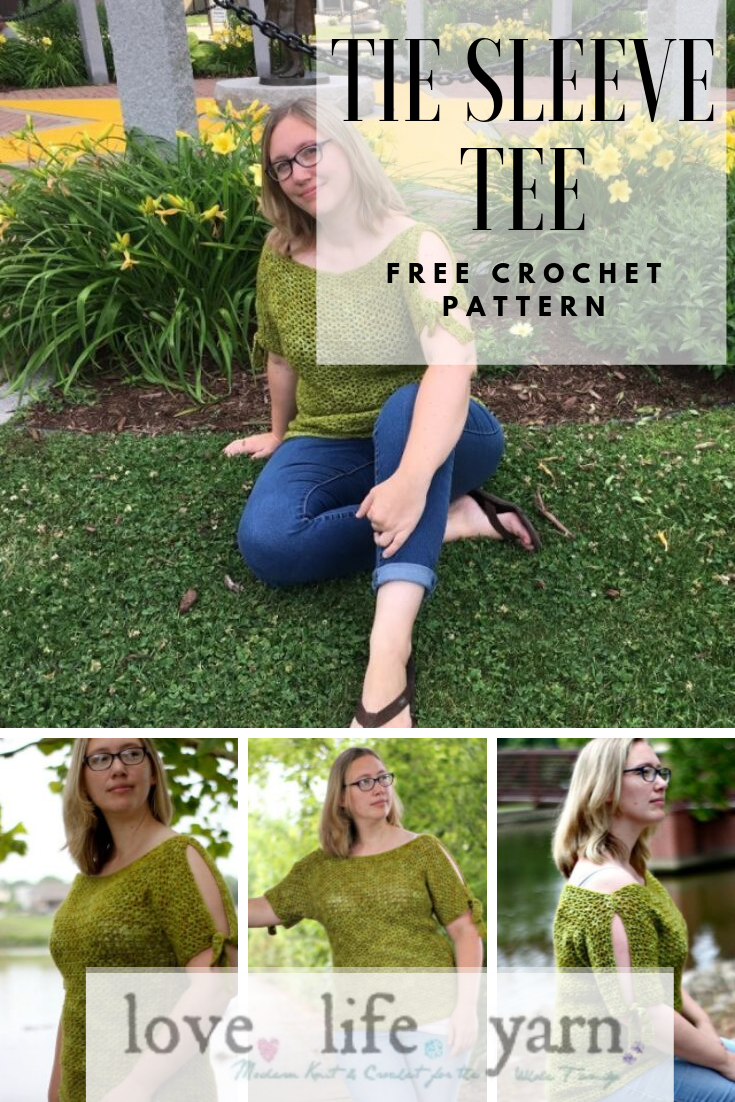This sweater is SO easy! Front and back are made alike using only double crochet and chains! I'm definitely making both versions of this tee!! I love the cold shoulder sweater look. #freecrochetpattern #freecrochetsweaterpattern #coldshouldersweater