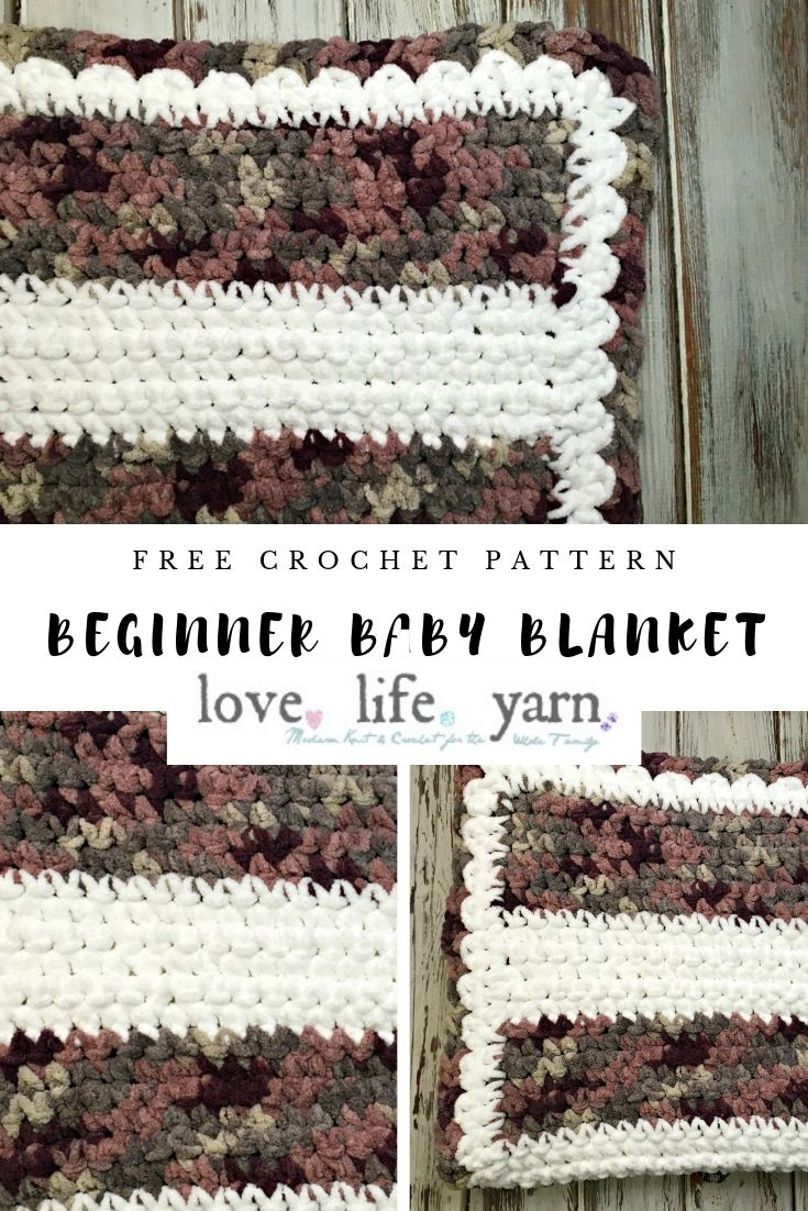 Anyone can make this easy single crochet blanket!!  The video tutorial shows every step, from how to hold the yarn and tie a slip knot to how to weave in ends!  SO EASY!!