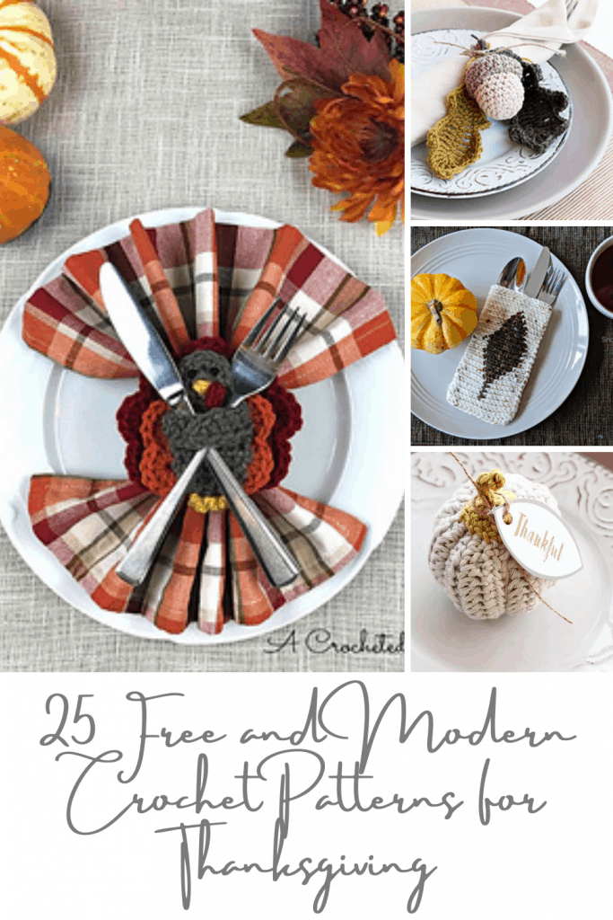 25 modern and free crochet patterns for thanksgiving