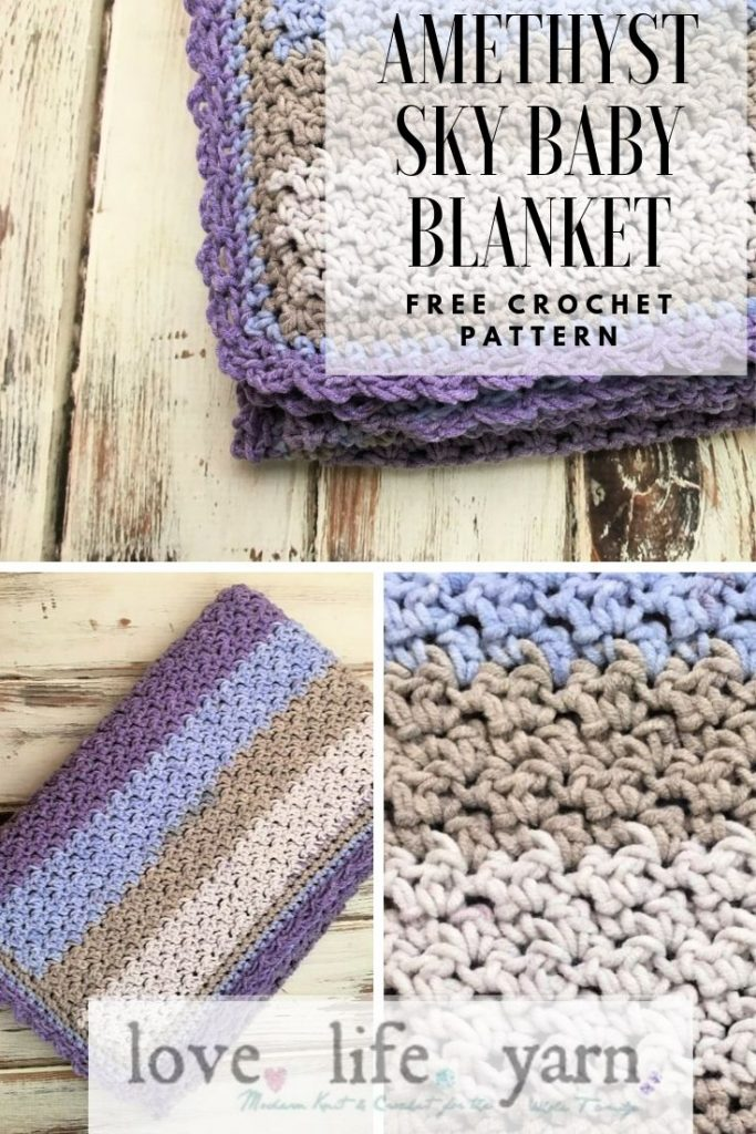 Anyone can crochet this timeless baby blanket using only sc and dc!  Includes a full video tutorial to walk you through every step.