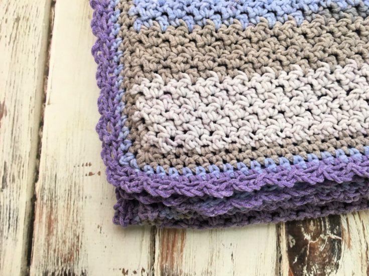 Amethyst Sky Baby Blanket - Free Crochet Pattern